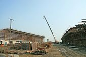 stock photo of stent  - overpass construction site of city outdoors - JPG