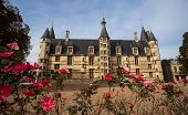 The Ducal palace in Nevers city, Nievre, France. Built in the 15th and 16th centuries, feudal edific poster