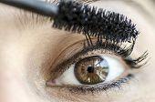 closeup of eye and mascara