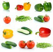 Conjunto de vegetais diferentes