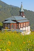 Small Church In The Alps In Slovenia, Europe