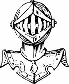 Head Of A Knight In Armor.