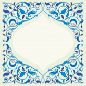 Islamic floral art - blue (EPS10)