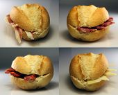Several Typical Bread Sandwiches Spain