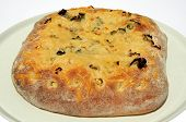 Parmesan cheese and spring onion Focaccia.
