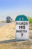 95 Kilimeters To Rajkot Milestone