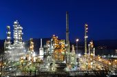 Oil Refinery At Night, Burnaby
