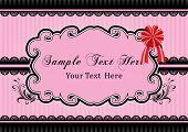 Vintage pink frame