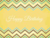 Chevron Pattern Birthday Card