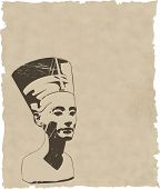 picture of nefertiti  - vector head of Nefertiti  - JPG