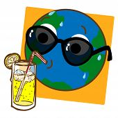 Planet Earth Drinking Lemonade
