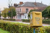 Old Yellow Post Box