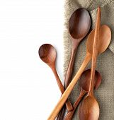 Spoons On A Kitchen Towel