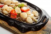 Fried Sea Scallop with Vegetables