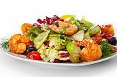 Salad with Shrimps and Vegetables