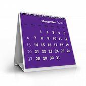 Calendário de 2009. Dezembro de