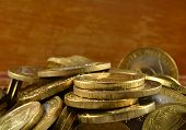 Background Of Gold Coins