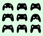 Gamepads silhouettes