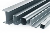stock photo of girder  - Rolled metal products - JPG