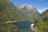 Verzasca Reservoir,Ticino Canton,Switzerland