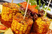 Baked Corn With Salsa