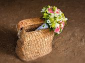Beautiful Bridal Bouquet In Basket