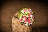 Bridal Bouquet In Basket