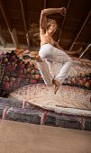 Capoeira Performer Jumping