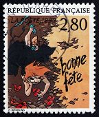 Postage Stamp France 1993 Happy Birthday, Claire Wendling, Greet
