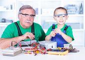 Grandchild Disassembling Pc Power Supply