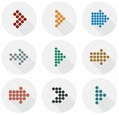 Vector illustration of plain round arrow icons. Eps10.