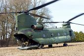 Chinook Helicopter On Ground