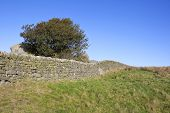 Dry Stone Walls And Blue Sky
