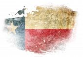 foto of texans  - Texan flag with some grunge effects and lines - JPG