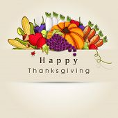 image of brinjal  - Happy Thanksgiving Day background with vegetables - JPG