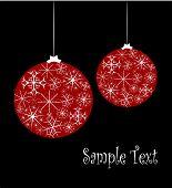 Christmas Card With Glass Balls