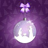 Christmas Ball With Nativity Scene