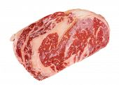 pic of wagyu  - Premium quality kobe beef ribeye steak isolated on white background - JPG