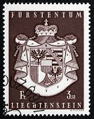 Postage Stamp Liechtenstein 1969 Coat Of Arms Of Liechtenstein
