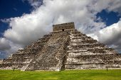 Ancient Mayan pyramid, Kukulcan Temple at Chichen Itza, Yucatan, Mexico