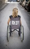 Child Alone In Wheelchair