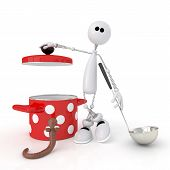The 3D Person With The Pan.