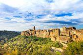 Tuscany, Pitigliano Medieval Village Panorama. Italy