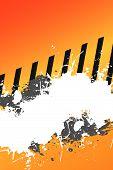 Grungy Hazard Stripes Layout With Splatter