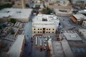 The streets of an ancient town of Itchan Kala. The city of Khiva, Uzbekistan. Blurred edges and shar