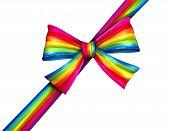 Rainbow Diagonal Gift Ribbon Bow