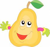 comic pear vector