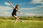 Ballerina In Field
