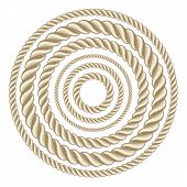 pic of lasso  - Circle rope illustration vector - JPG
