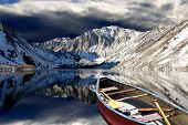 Place of peace - reflective Convict Lake in the California Eastern Sierras.